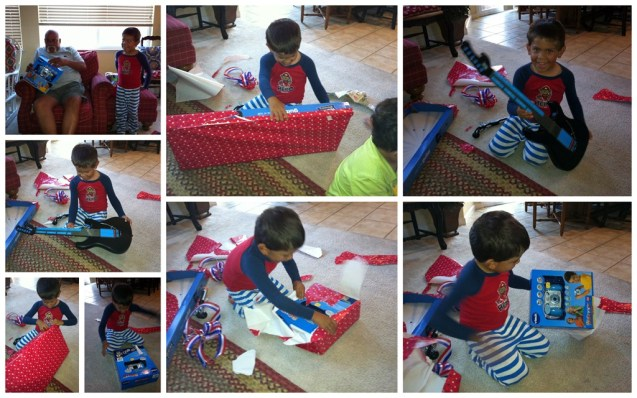 8.24.12 papi opening his gifts