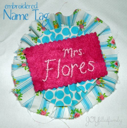 embroidered name tag - leader