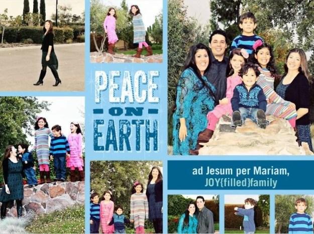 peace on earth JOYfilled family