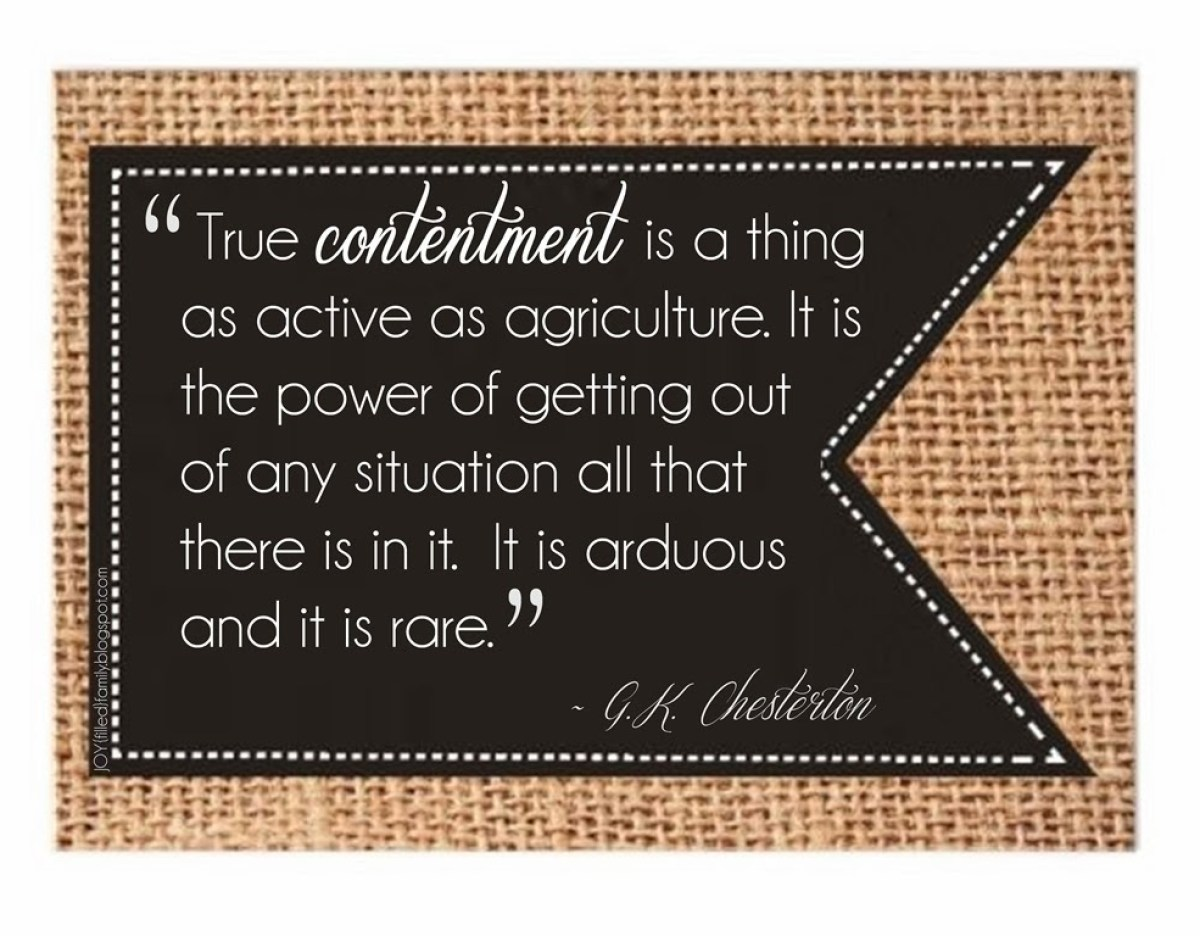 True Contentment - JOYfilledfamily Word of the Year 2014