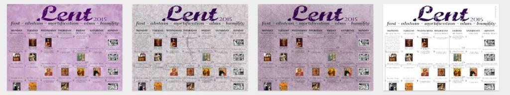Lent Calendars