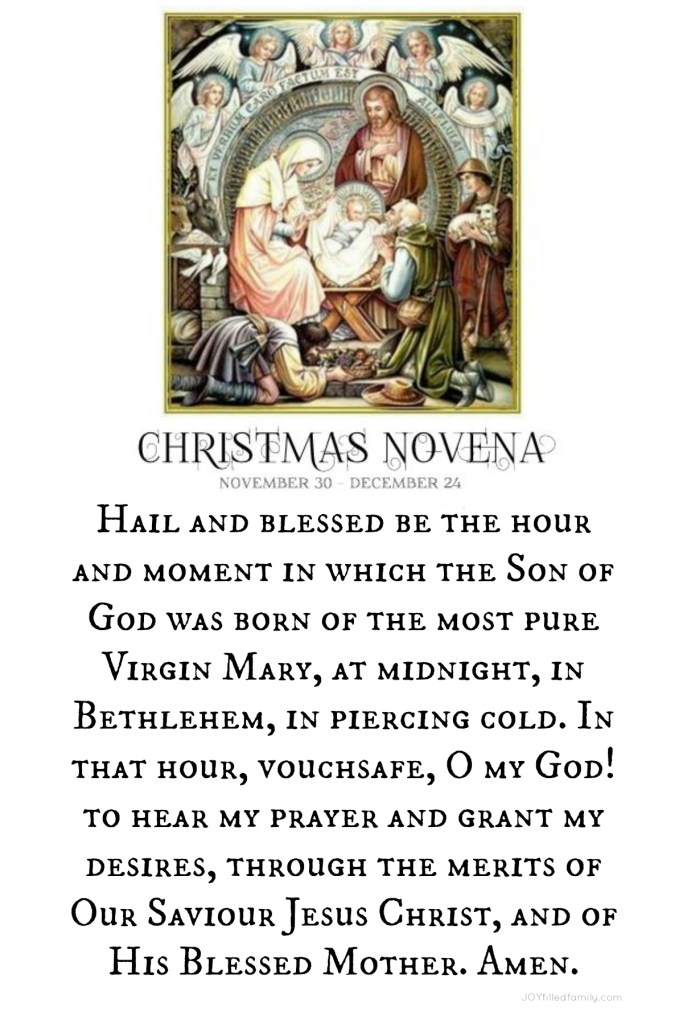 Christmas Novena Lock Screen