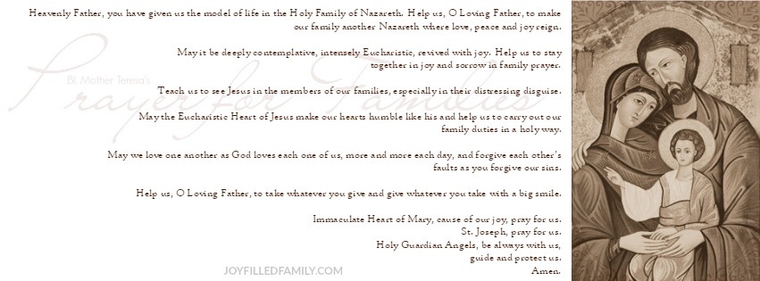 Prayer for Families banner
