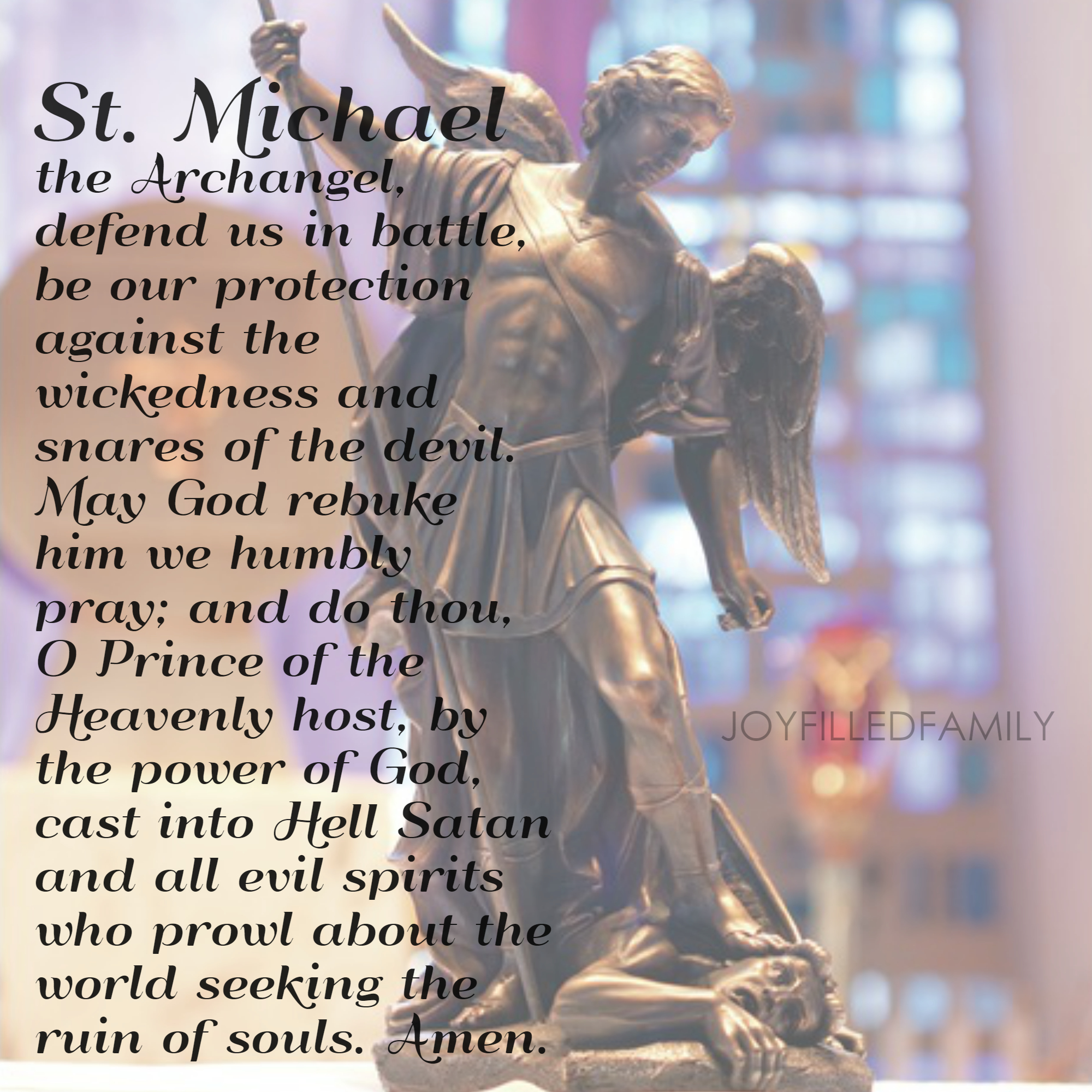 photo about St. Michael the Archangel Prayer Printable named The Perseverance of St. Michael the Archangel