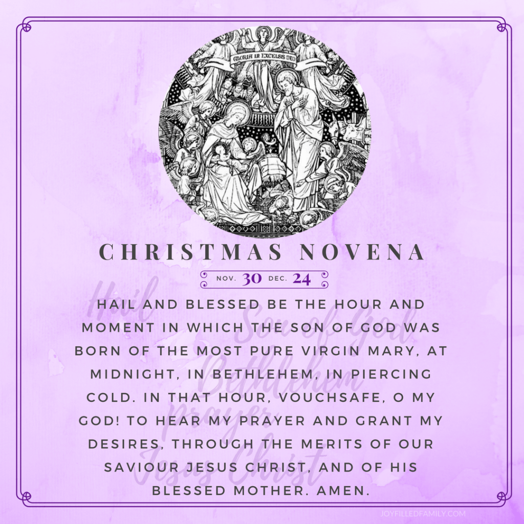 Christmas Novena Printables Amp Social Media Reminders