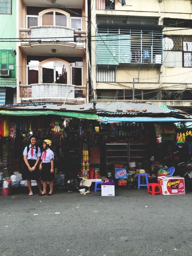 Waiting out the Saigon rain