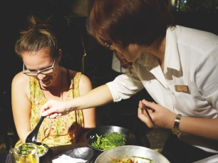 "Trying ""Cha ca lang"" in Hanoi"