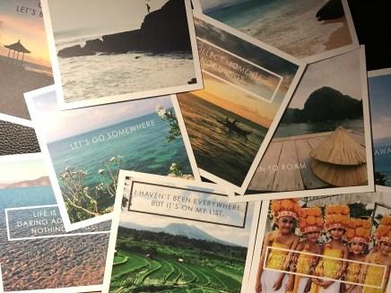 Square travel prints