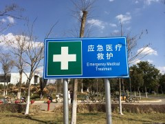 Hope you don't need any emergency medical treatment, because this sign won't help!