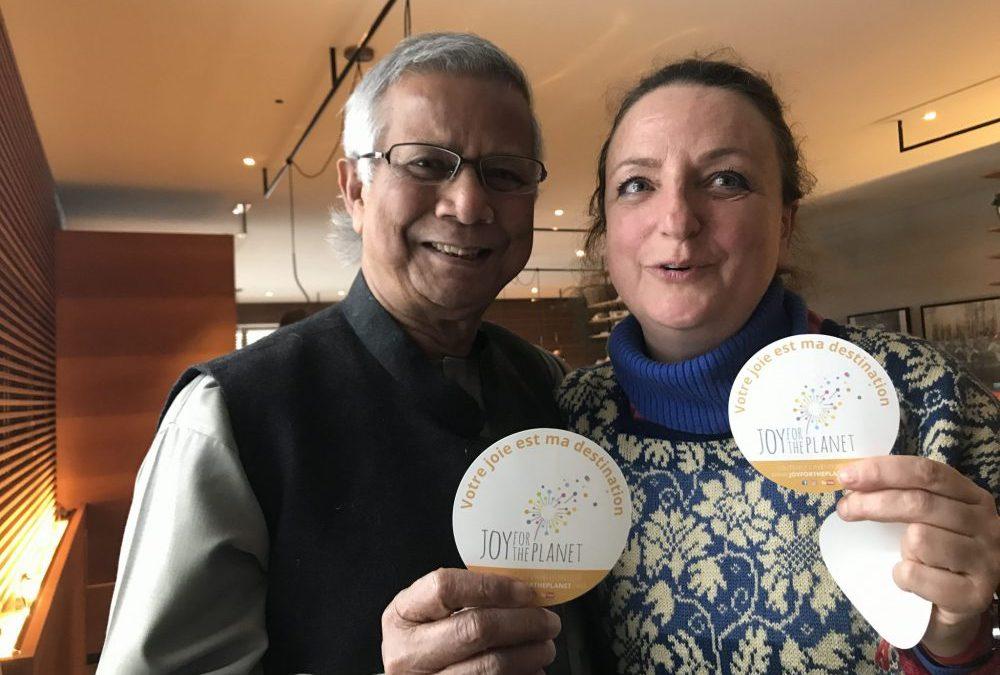 Mohammad Yunus, un premier invité surprise de Joy for the Planet!