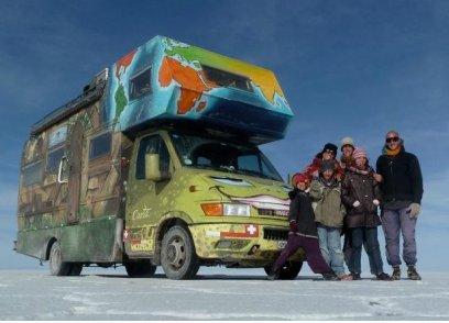 «Les six en route» et Joy for the Planet: les conditions météos hivernales m'obligent à reporter à plus tard ma rencontre avec la famille mais leur stage est maintenu.