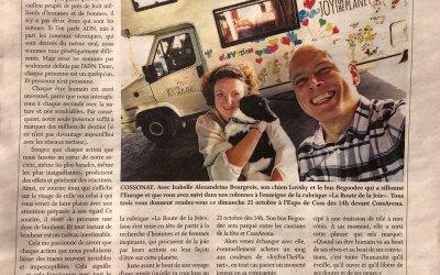 Article dans l'édito du Journal du Cossonay