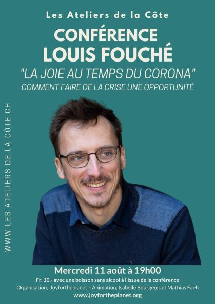 Revivez la conférence exceptionnelle du Dr. Louis Fouché invité par Joy for the Planet