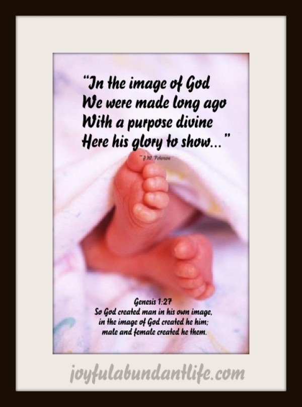 In the image of God, we were made long ago in order to glorify Him and fulfill His divine purpose. In His favor is Life!