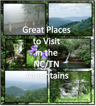 Great Places to Visit in the NC/TN Mountains