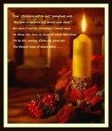 candle and poinsetta-001