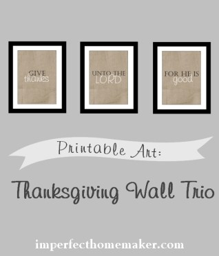 Adorable Thanksgiving Printable