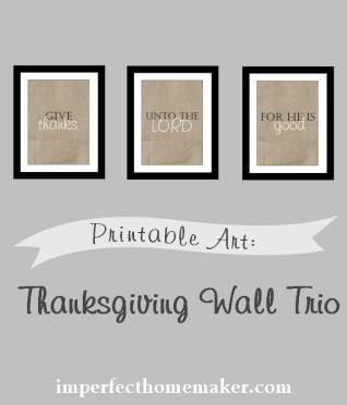 Adorable Thanksgiving Printable