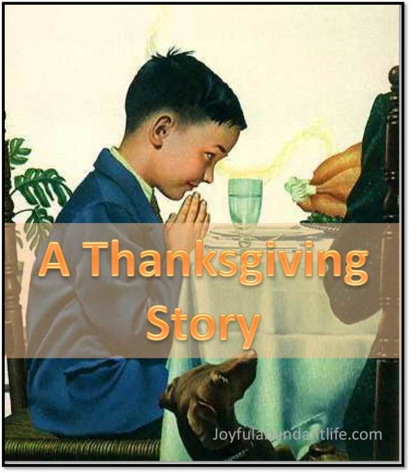 A Thanksgiving Story - A though provoking and convicting devotional