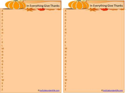 Thanksgiving ABC printable game pic