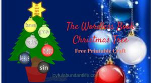Wordless Book Christmas Tree