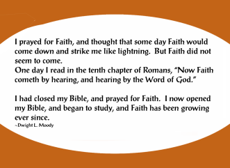 Moody Faith comes by hearing