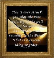 majority of God's Will in Bible