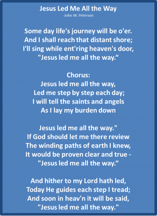Jesus Led Me All The Way