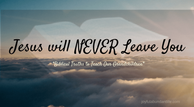 A Simple Truth - Jesus will never leave you and never disappoint you