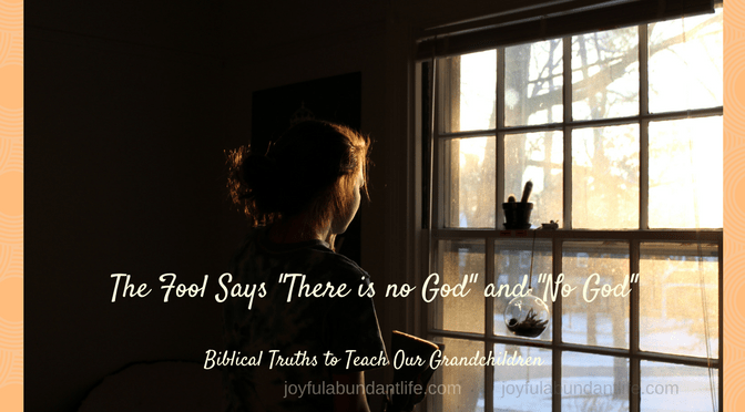 Instilling Biblical Truths into my Grandchildren – The fool hath said in his heart there is no God