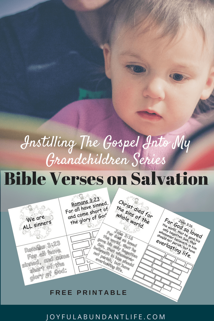 Instilling the Gospel Into My Grandchildren – Printable Verses on Salvation