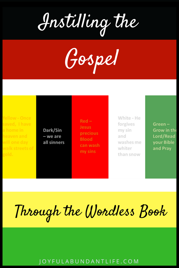 Instilling the Gospel Into My Grandchildren Using the Wordless Book – plus a free printable