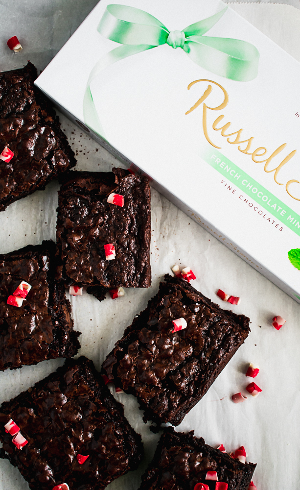 Rusell Stover French Mints for Dark Chocolate Peppermint Brownies