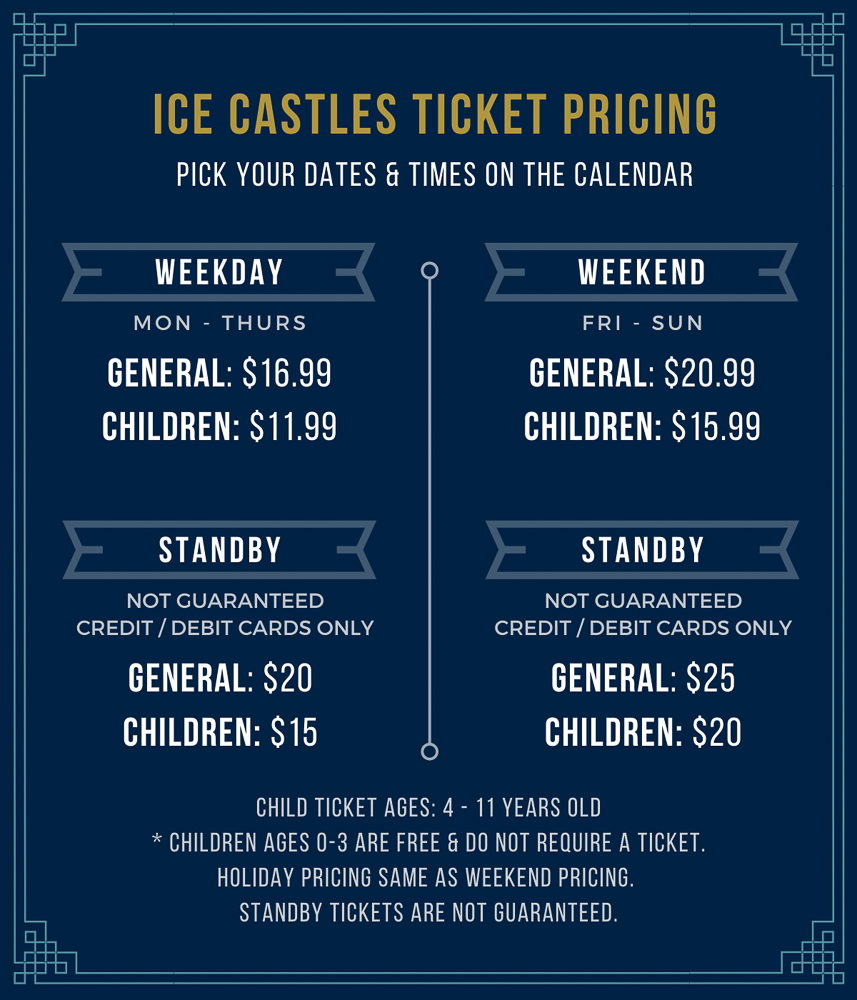 Pricing for Ice Castles