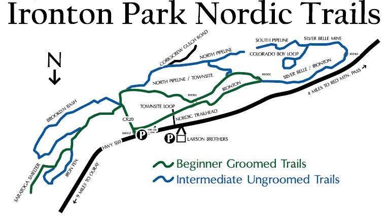 Ironton Park snowshoe trail map