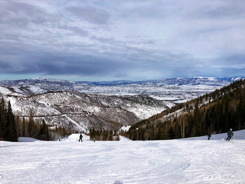 View from a ski run at Park City Mountain Resort