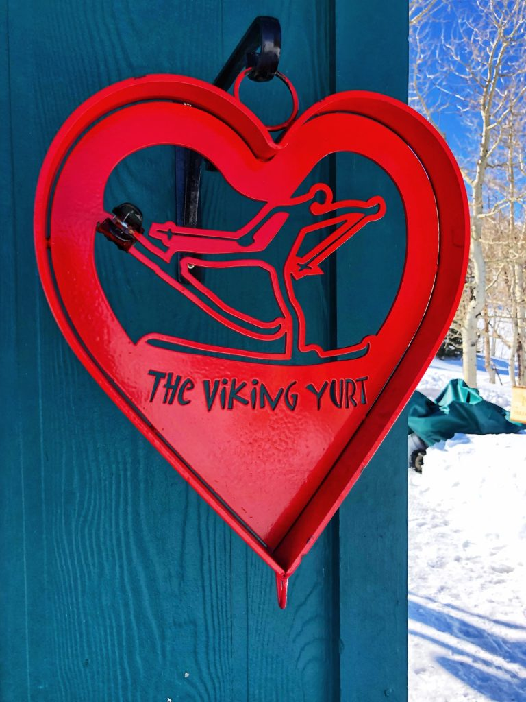 The Viking Yurt at the top of a ski run in Park City