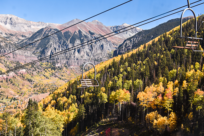 View from the gondola in Telluride, CO