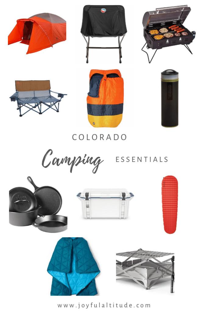 Colorado camping essentials graphic