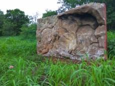 Close View of Rock Art Fiber Model