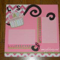 Cupcake Scrapbook Layout
