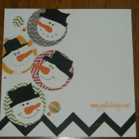 WINTER SCRAPBOOK LAYOUT with Whimsical Snowmen Faces