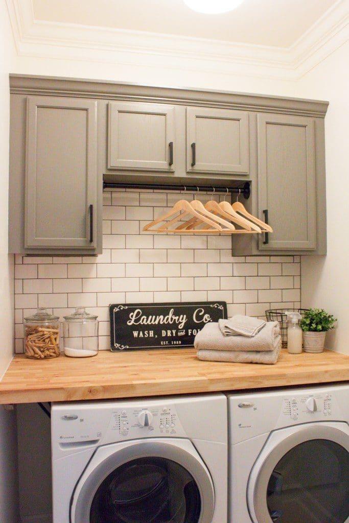 15 Fabulous Farmhouse Laundry Room Design Ideas - Joyful ... on Laundry Cabinet Ideas  id=27295