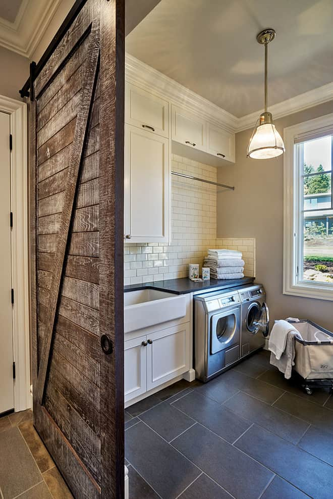 15 Fabulous Farmhouse Laundry Room Ideas - Joyful Derivatives on Laundry Room Decor Ideas  id=20147