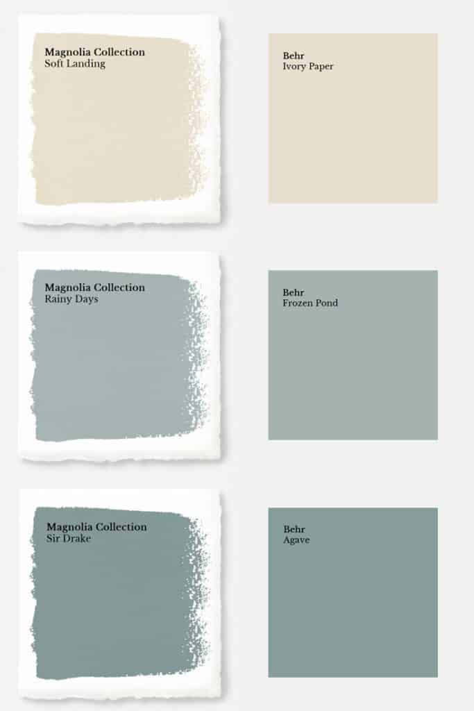 Magnolia Paint Colors Matched To Behr Joyful Derivatives