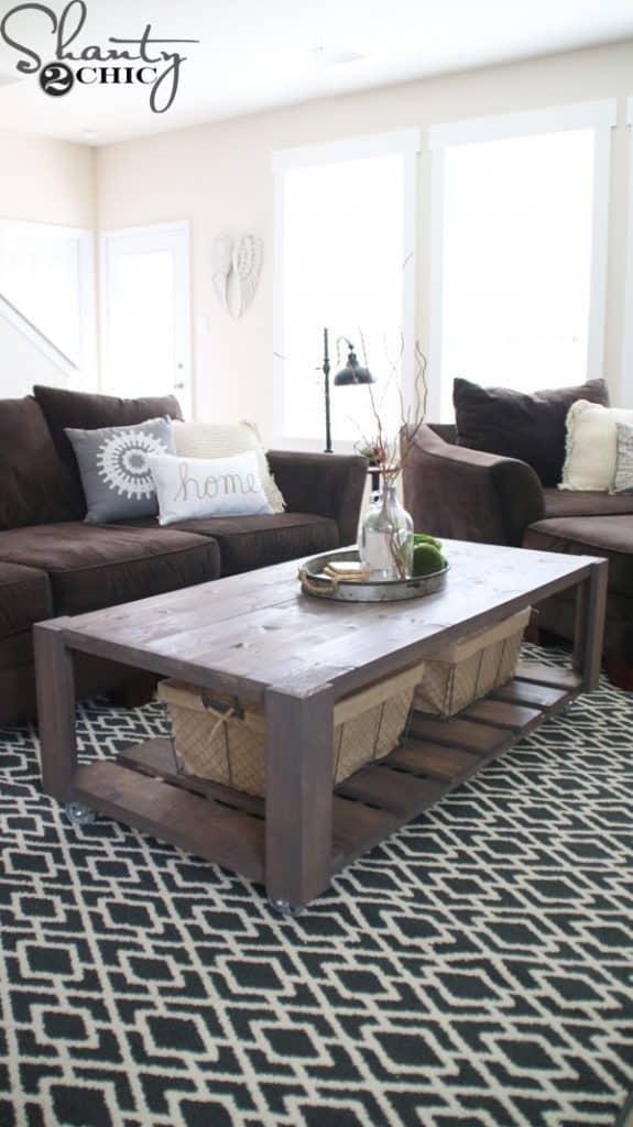 30 easy diy farmhouse coffee table