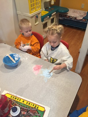 Shaving Cream Color Mixing