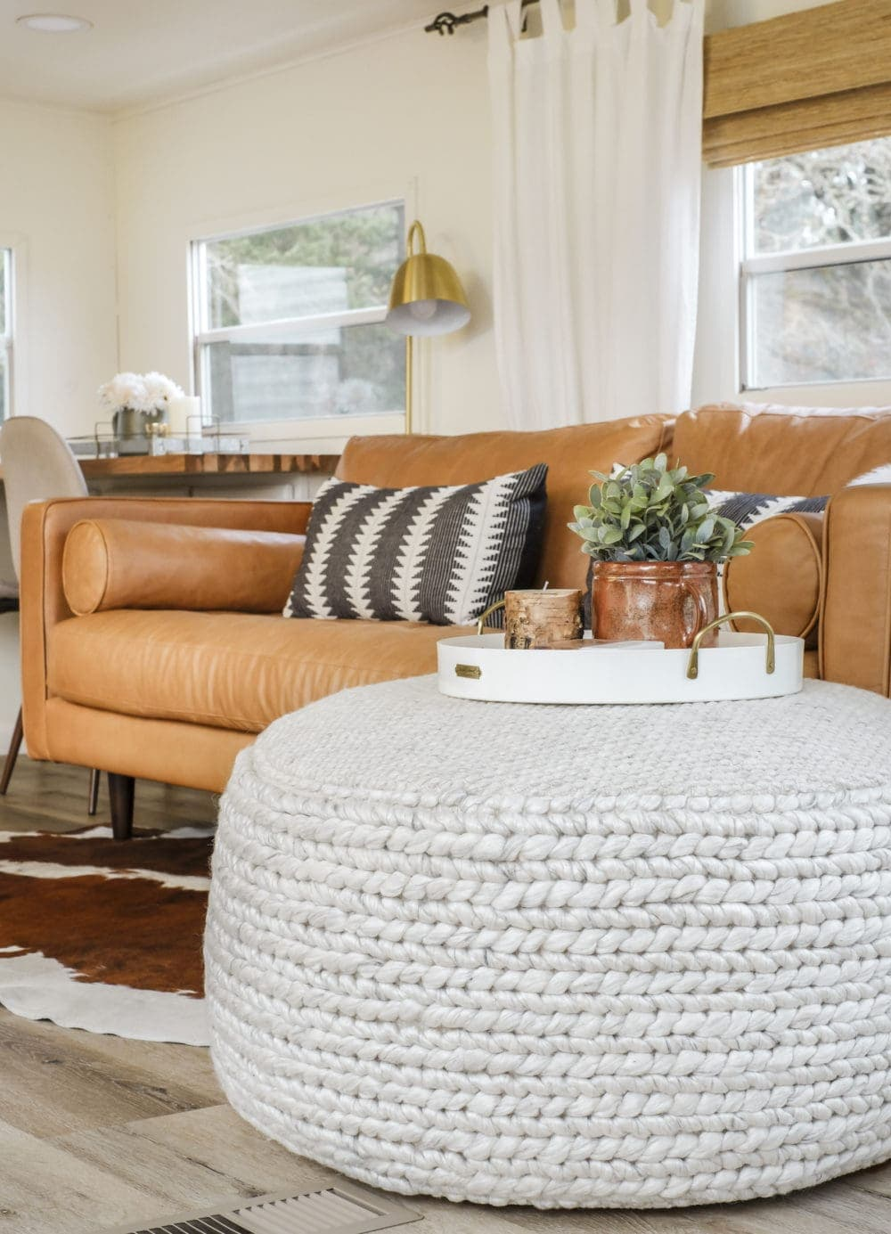 Article Pouf Review Oversize Handwoven Wool Ottoman
