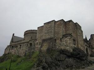 Edinburg Castle where the King's processional starts