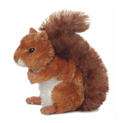 This is a picture of the toy squirrel that is the prize (sans scarf)